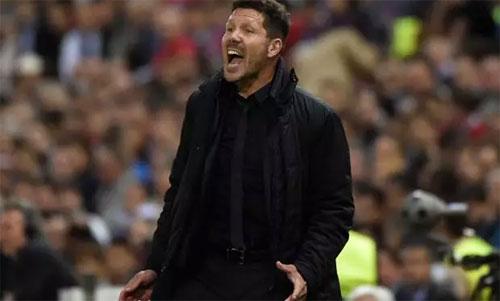 Đội bóng của Simeone đang có lợi thế sau trận lượt đi. Ảnh: Reuters