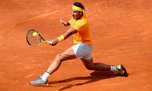 Chiến thắng trước Garcia-Lopez giúp Nadal nới rộng kỷ lục về mạchthắngtrên mặt sân đất nện ở kỷ nguyên Mở lên 40 set. Ảnh: ATP.