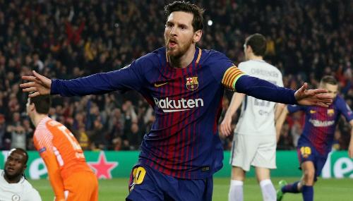 Messi sắp được hưởng lợi nhờ chính tên của mình. Ảnh:Reuters.