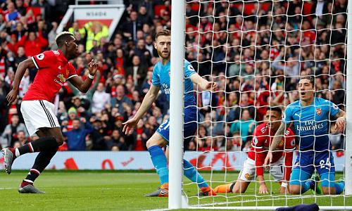 Man Utd 1-0 Arsenal (hiệp 1): Pogba mở tỷ số