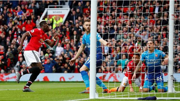 Pogba liên quan trực tiếp đến 4 bàn trong 4 trận anh thi đấu cho Man Utd gần đây. Ảnh: Reuters.