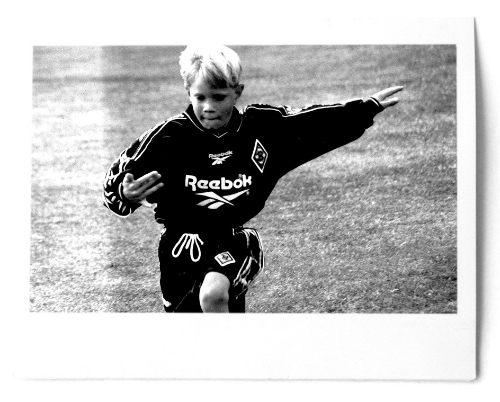 Ter Stegen khi còn nhỏ.