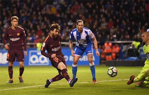 Messi ghi bàn nâng tỷ số lên 3-2 mang tính quyết định.
