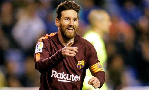 Messi không chỉ giúp Barca lên ngôi La Liga bằng cú hat-trick mới nhất. Ảnh: Reuters