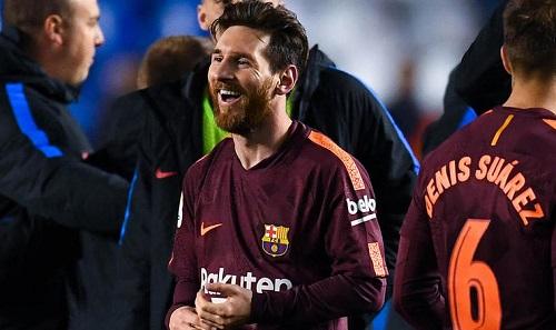 Messi cho rằng Barca không có đối thủ ở La Liga. Ảnh: FFT.