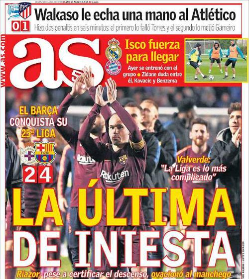 Iniesta là điểm nhấn trong chức vô địch của Barca.
