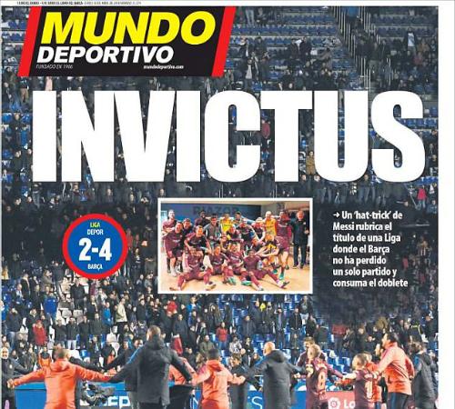 Barca vô địch với thành tích bất bại.