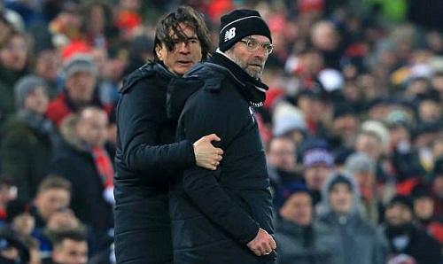 Buvac (trái) rời Liverpool vì mâu thuẫn với Klopp. Ảnh: AFP.