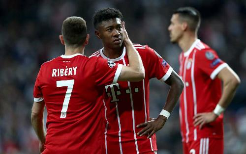 Bayern phải dừng chân tại sân Bernabeu mùa thứ hai liên tiếp. Ảnh:AFP.