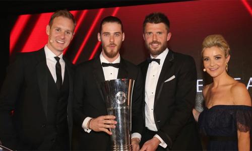 De Gea lần thứ tư nhận giải thưởng cầu thủ hay nhất năm của Man Utd. Ảnh: Man Utd.