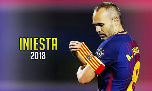 Iniesta sẽ chia tay Barca sau mùa giải 2017-2018.