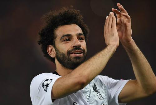 Salah chơi trận chung kết Champions League đầu tiên sau khi vượt qua đội bóng cũ Roma. Ảnh:AFP.