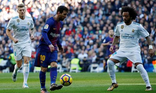 Kroos và Marcelo có ít cơ hội vàosân gặp lại Messi ở El Clasico ngày 6/5. Ảnh: Reuters