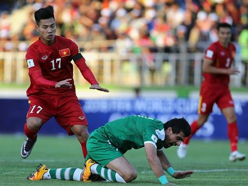 Việt Nam từng gặp Iraq ở vòng loại thứ hai World Cup 2018 khu vực châu Á. Ảnh: AFP.
