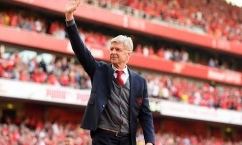 Wenger chỉ còn hai trận dẫn dắt Arsenal. Ảnh: Reuters.