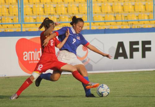 U16 nữ Việt Nam phung phí nhiều cơ hội khi đối đầu Malaysia.