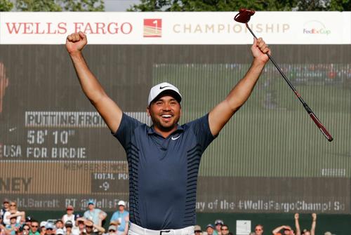 Jason Day vươn lên trở thành ứng viên vô địch hàng đầu tại TPC Sawgrass, sau chức vô địch mới nhất tại Wells Fargo. Ảnh: AP.