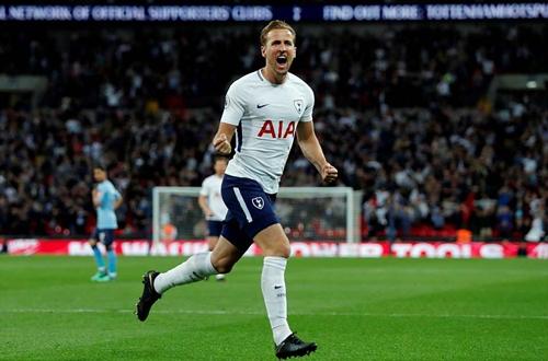 Harry Kane có bàn thứ 28 ở Ngoại hạng Anh mùa này. Ảnh: Reuters.