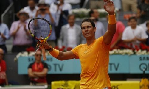 Nadal tiếp tục không có đối thủ trên mặt sân đất nện. Ảnh: AP.