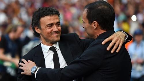 Enrique và Allegri là hai ứng viên lớn nhất thay thế Wenger. Ảnh: Reuters.