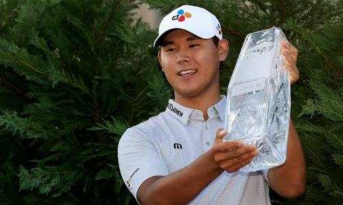 Kim Si Woo là người có thứ bậc thấp thứ hai trong lịch sử từng vô địch The Players. Thời điểm dự giải năm ngoái, anh chỉ đứng thứ 78 thế giới. Ảnh: Golf.com.