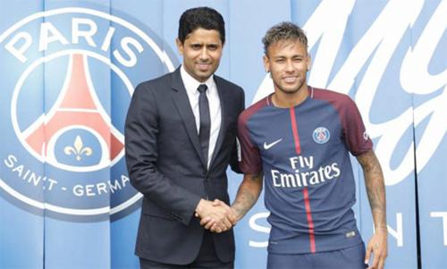 Neymar chưa thể nâng tầm PSG trong mùa đầu tiên chơi tại Pháp. Ảnh: Reuters