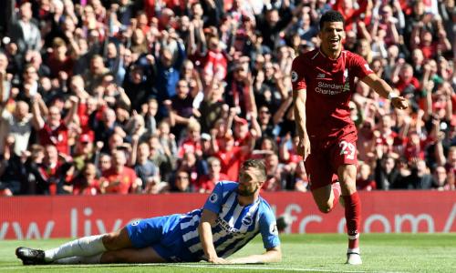 Solanke ghi bàn thắng đầu tiên tại Ngoại hạng Anh. Ảnh:AFP.