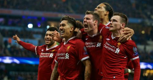 Liverpool có lợi thế lớn để kết thúc trong top 4. Ảnh:AFP.
