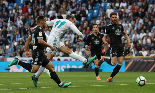 Bale một lần nữa lập công khi được đá chính. Ảnh: Reuters