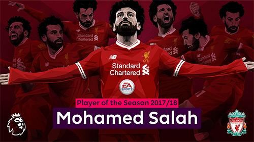 Salah là cầu thủ Liverpool thứ ba nhận giải thưởng Cầu thủ hay nhất mùa giải của Ngoại hạng Anh, sau Michael Owen và Luis Suarez. Ảnh: LFC.