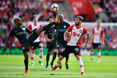 Southampton đã cho Man City thử thách cuối cùng của mùa giải. Ảnh:AFP.