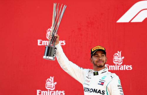 Hamilton có hai lần thắng chặng qua năm chặng đã đua của mùa giải F1 2018.