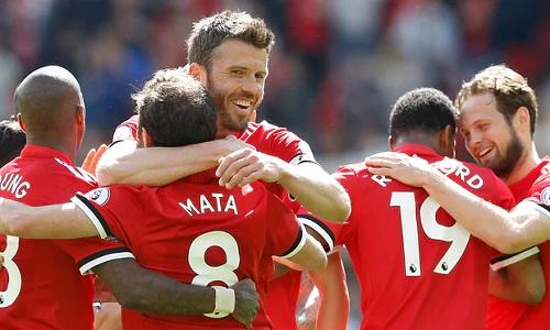 Carrick góp mặt trong đội hình Man Utd những năm huy hoàng khi cựu HLV Alex Ferguson nắm đội. Ảnh: PA.