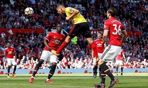 Pha đánh đầu bị Romero cản phácủaRicharlison là cơ hội nguy hiểm nhất Watford tạo ra. Ảnh: Reuters.