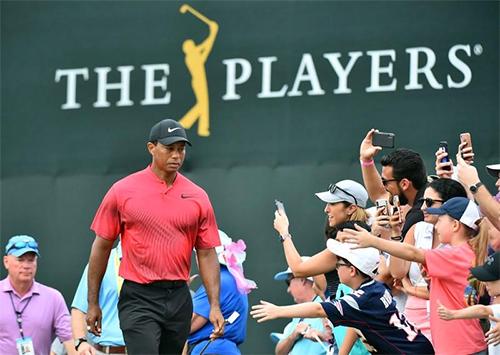 Woods làm khán giảphấn khích vì những đường bóng xuất sắc ở hai ngày cuối The Players. Ảnh: Reuters.