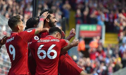Salah và Liverpool thăng hoa mùa 2017-2018. Ảnh: Sportsmail.