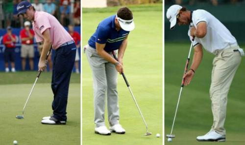 Webb Simpson (trái) cùng với Keegan Bradley và Adam Scott từng là ba golfer neo gậy nổi tiếng nhất tại PGA Tour. Ảnh: American Golf.