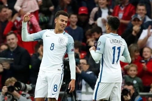 Alli và Lingard được xem là trụ cột ở hàng tiền vệ tuyển Anh. Ảnh: Reuters.