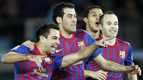 Busquets là cái tên cuối cùng của bộ ba tiền vệ giúp Barca thống trị châu Âu giai đoạn từ 2008 đến 2012. Ảnh: Reuters.