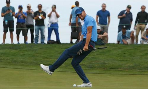 Stephen Curry nhiều khả năng sẽ tổ chức một sự kiện PGA Tour trong mùa giải sau. Ảnh: AP.