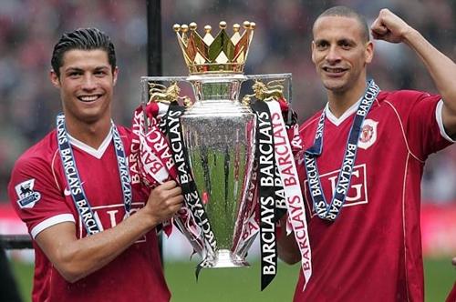 Ronaldo đoạt ba chức vô địch Ngoại hạng Anh trong sáu năm ở Man Utd. Ảnh: PA.