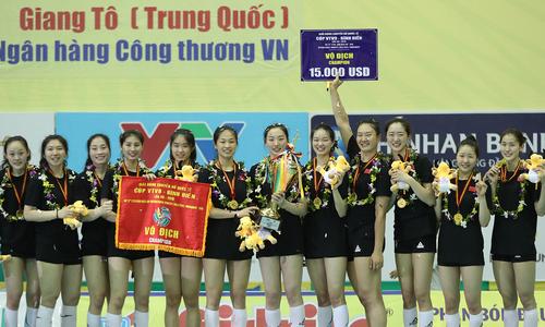 Giang Tô vô địch giải bóng chuyền nữ quốc tế tại Việt Nam