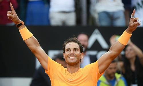 Nadal giành danh hiệu thứ ba trong mùa sân đất nện năm nay. Ảnh: AFP.
