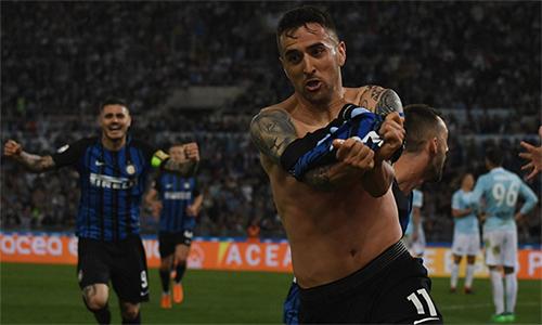 Vecino mừng bàn thắng quyết định cho Inter. Ảnh: Inter.it.