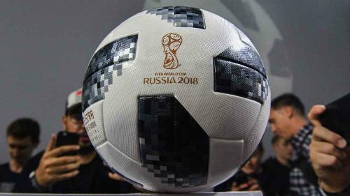Quả bóng của World Cup 2018. Ảnh:AFP.