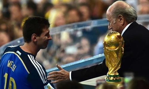Messi lỡ hẹn với chức vô địch World Cup 2014. Ảnh: Reuters.