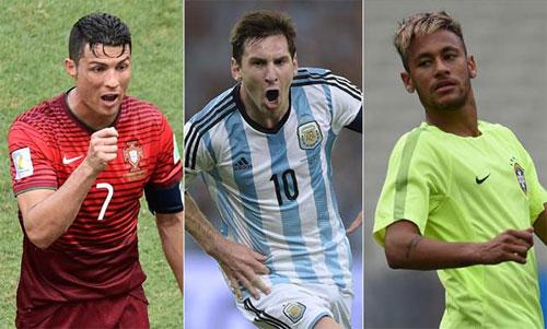 Neymar không đưa Ronaldo và Messi vào nhóm ngôi sao có thể tỏa sáng tại World Cup.