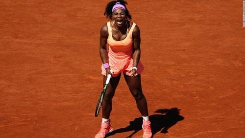 Serena phải dự vòng loại Roland Garros. Ảnh: AFP.