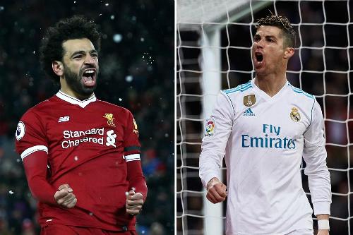 Salah và Ronaldo là hai cái tên đáng chú ý nhất ở chung kết. Ảnh:AFP.