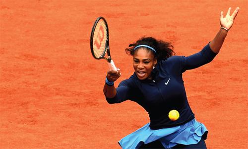 Serena không được xếp hạt giống dù từng ba lần đăng quang tại Roland Garros, và là số một thế giới trước khi nghỉ sinh con. Ảnh: Reuters.